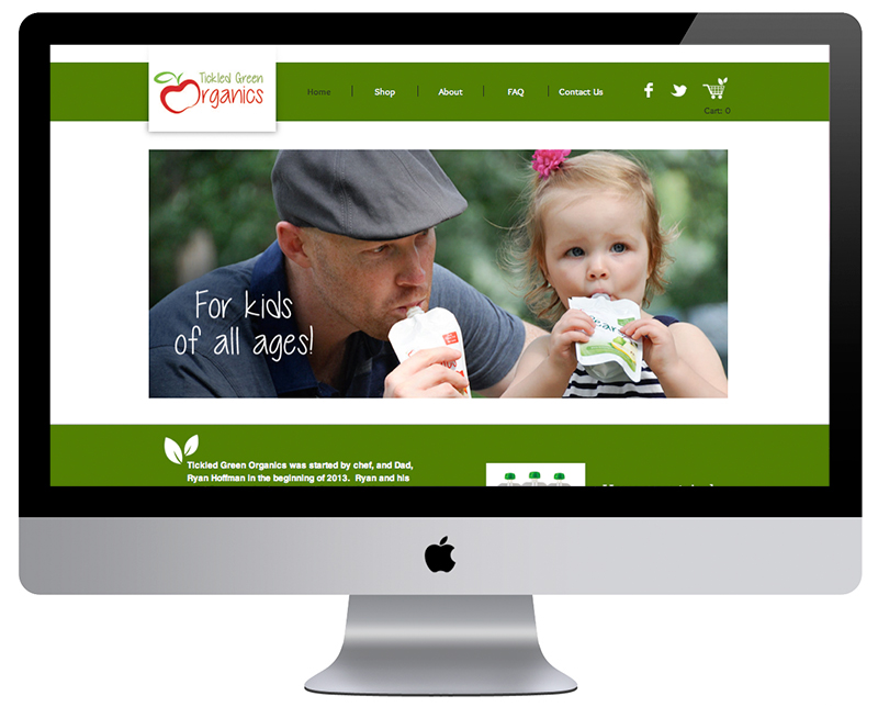 Tickled Green Organics Website - By Kayd Roy