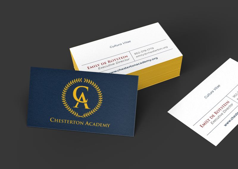 Chesterton Academy branding by Kayd Roy
