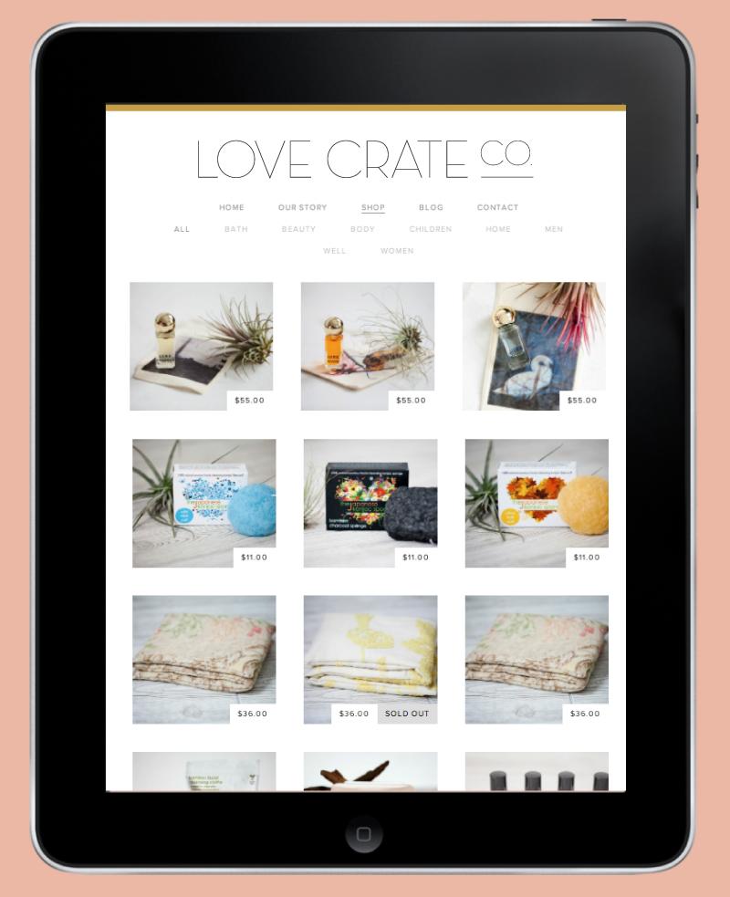 Love Crate Website - Kayd Roy