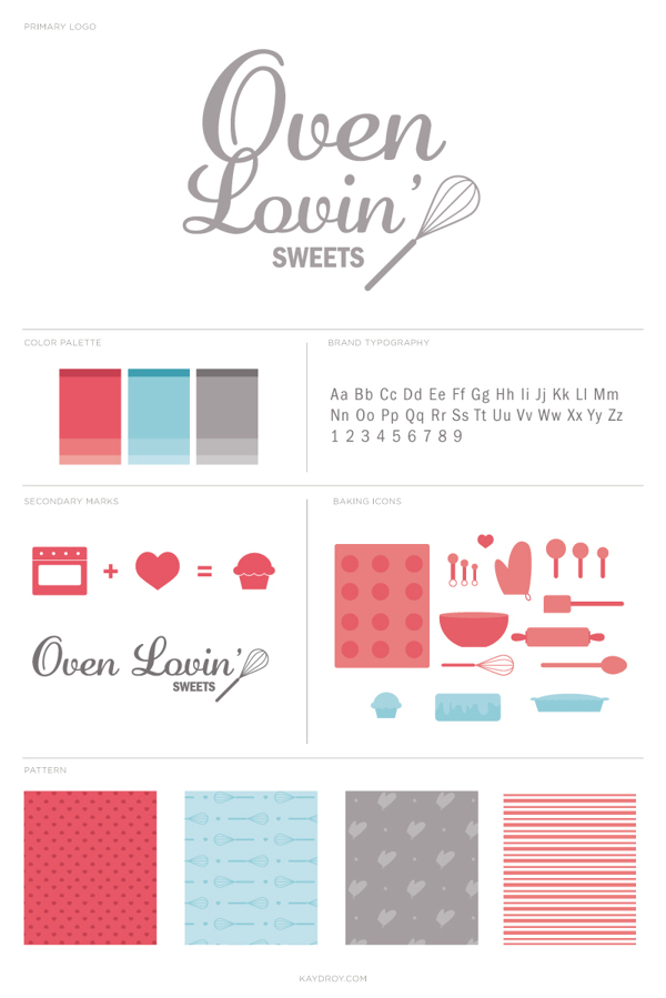 Oven Lovin' Sweets Branding by Kayd Roy
