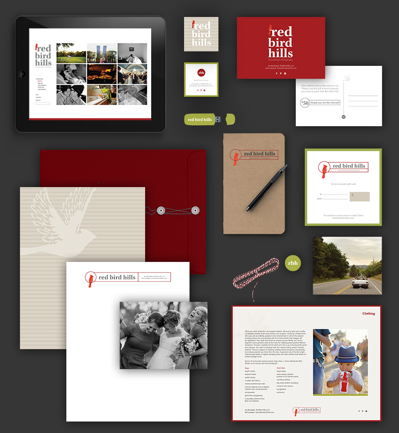 Red Bird Hills Photography Branding by Kayd Roy