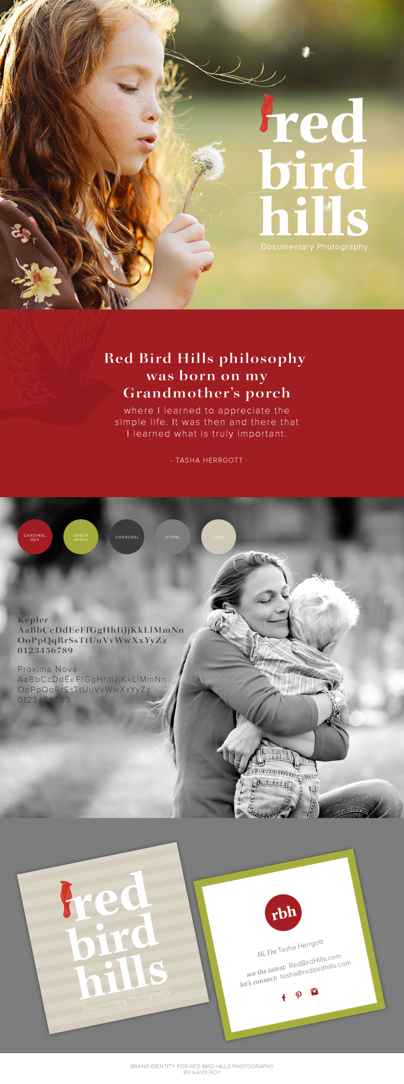 Branding for Red Bird Hills Photography by Kayd Roy
