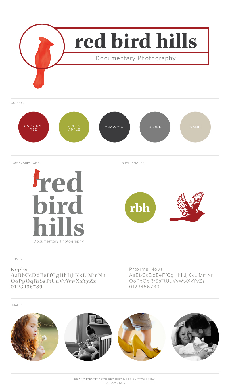 Brand Identity for Red Bird Hills Photography by Kayd Roy