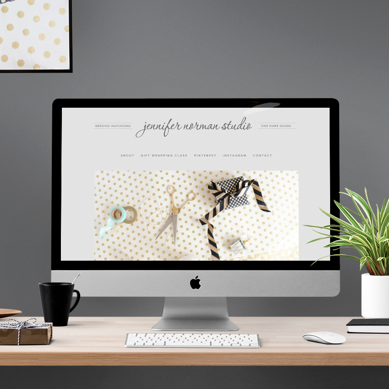 Jennifer Norman Studio website - by Kayd Roy