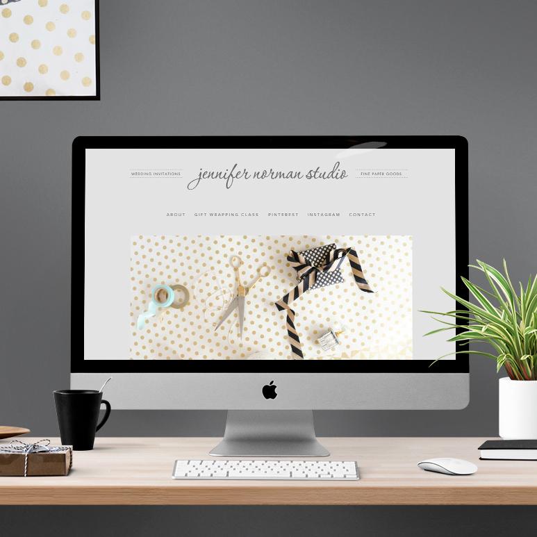 Jennifer Norman Studio website - by Kayd Roy