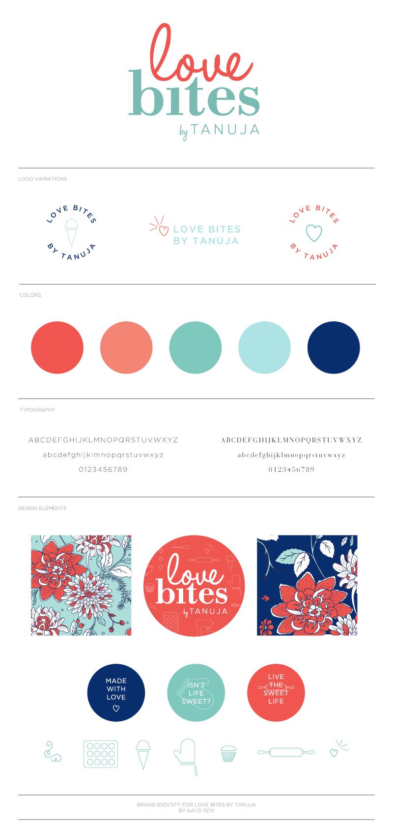 Branding for Love Bites by Tanuja  -  Kayd Roy