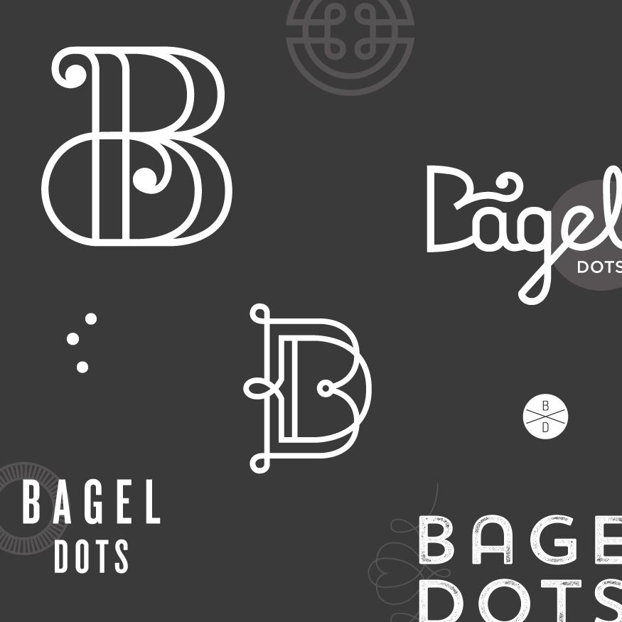Logo exploration for Bagel Dots  -  Kayd Roy
