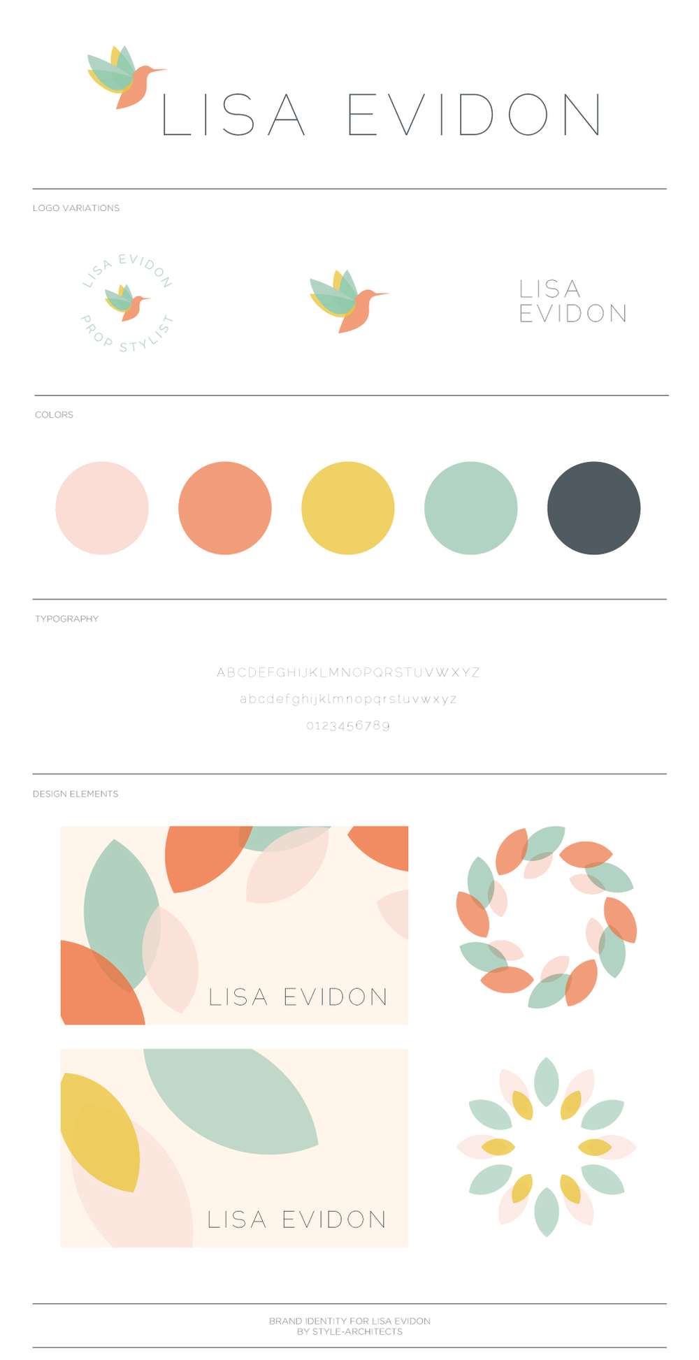 Lisa Evidon branding by Style-Architects