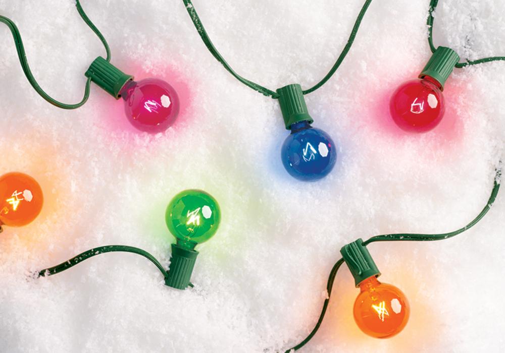 Holiday lights at Target