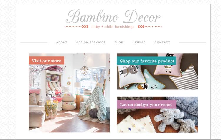 Bambino Decor website design by Kayd Roy