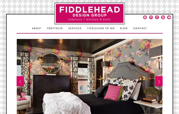 Fiddlehead Design Group website design by Kayd Roy