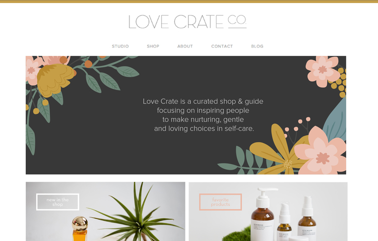 Love Crate website design by Kayd Roy