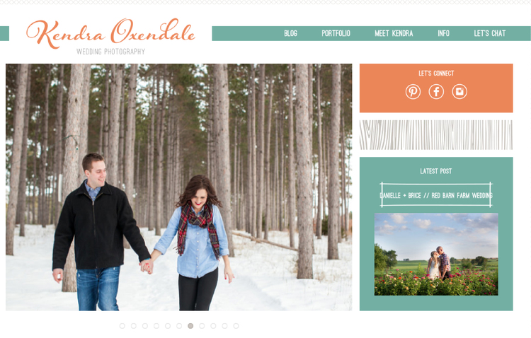 Kendra Oxendale website design by Kayd Roy