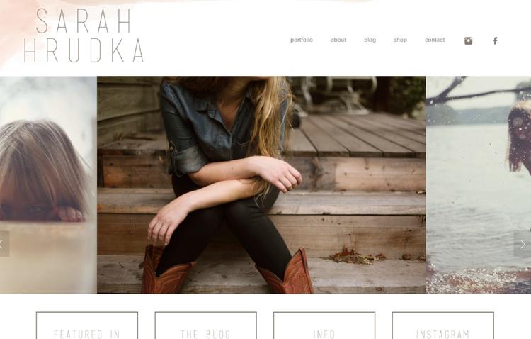 SarahHrudka website design by Kayd Roy
