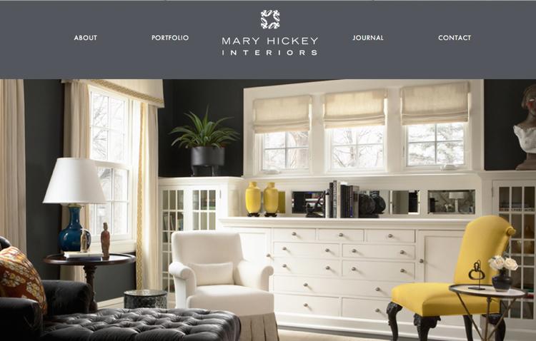 Mary Hickey Interiors website design by Kayd Roy