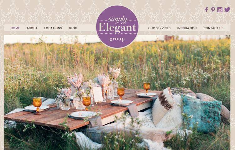 Simply Elegant Weddings website design by Kayd Roy