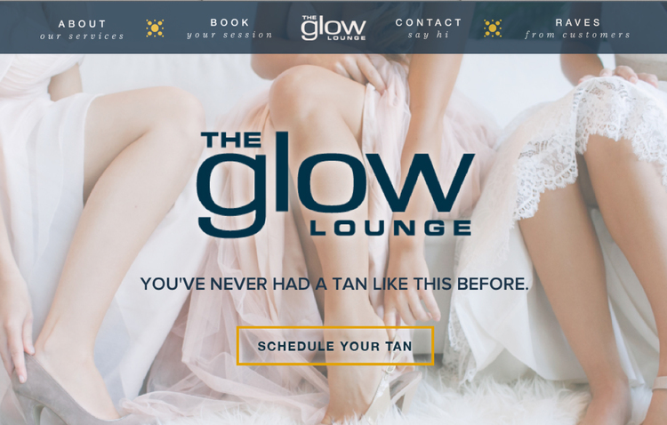 The Glow Lounge website design by Kayd Roy