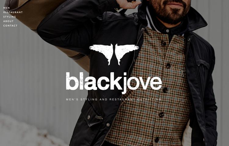 Blackjove website design by Kayd Roy