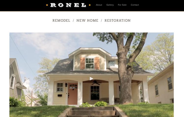Ronel Builders website design by Kayd Roy