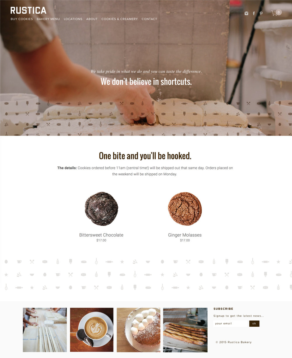 Rustica Bakery website design by Kayd Roy