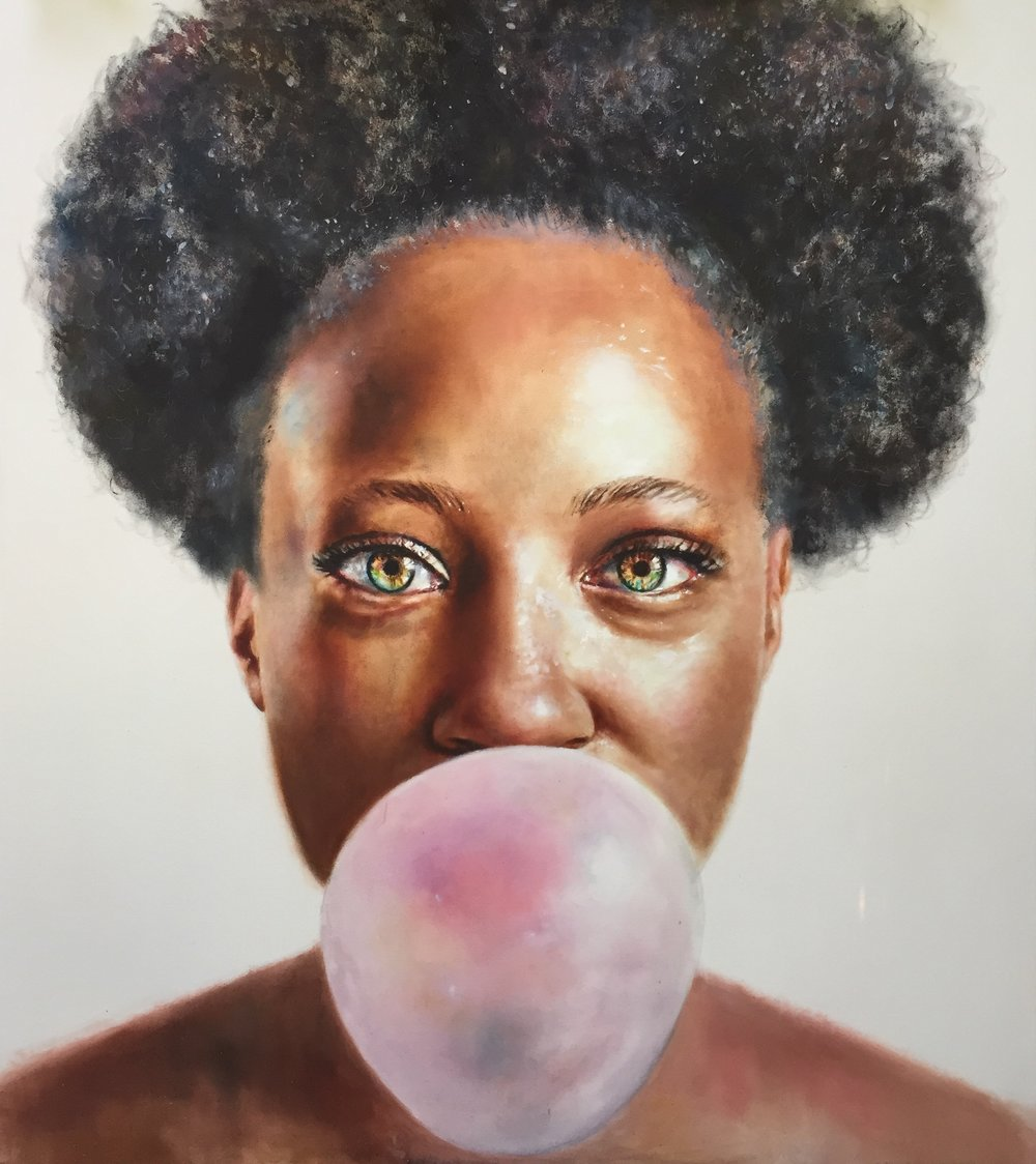 Bubble Gum, oil on canvas 74x64in Price Upon Application