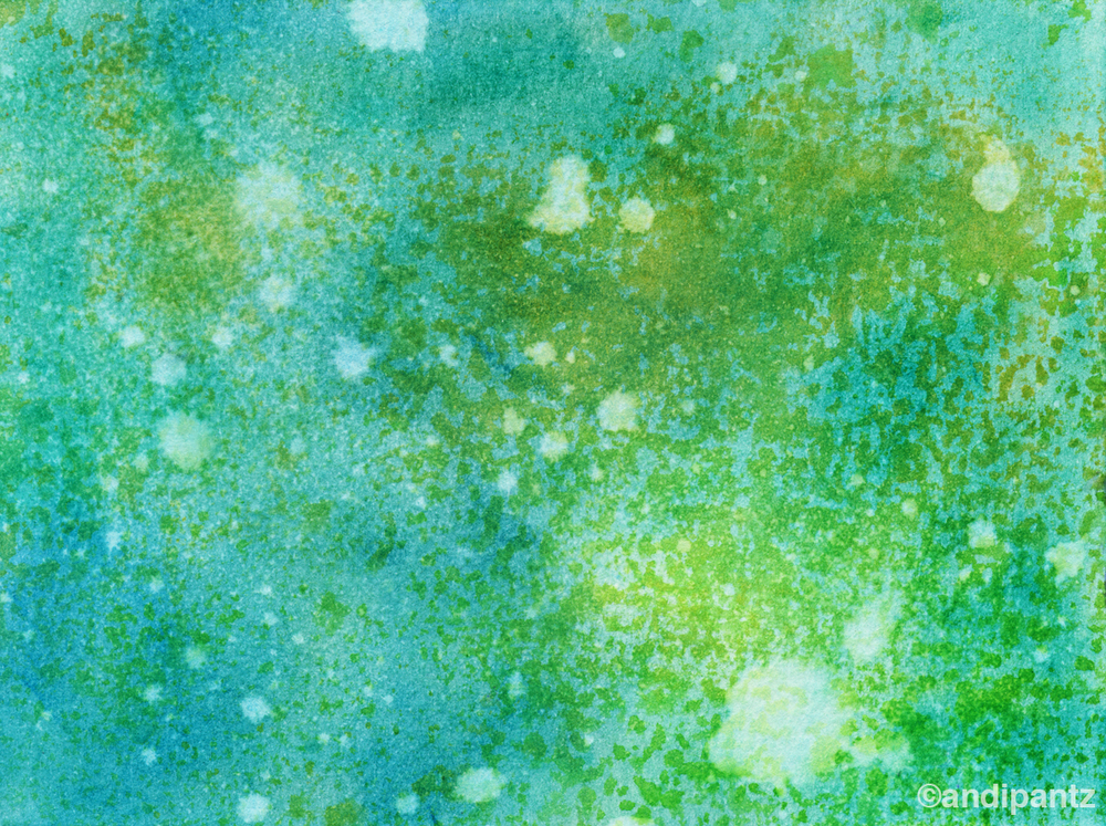 """Pollen"" Ink on watercolor paper. 4 1/2"" x 6"". May 2015. Original painting: $20 shipped, unmatted/unframed."