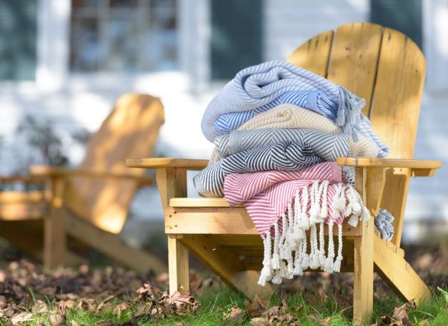 American-made blankets and linens from Brahms Mount.