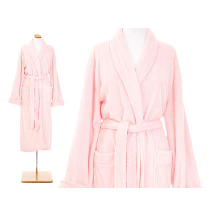 23974 - Petite Sheepy Fleece Robe in Pale Rose - $84 - Received