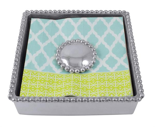 2055 - Beaded Napkin Box - $47
