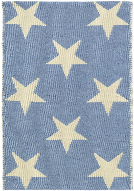 24965 - 2x3 French Blue Star Rug - $65