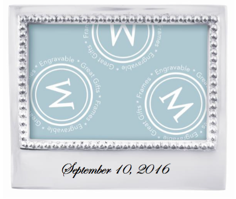 15288 - Personalized 4x6 Frame - $69