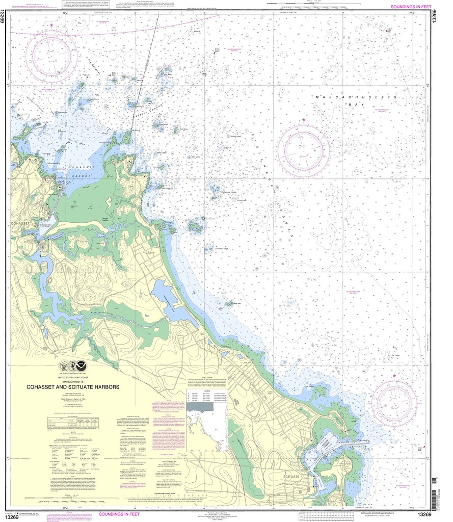 24352 - Scituate/Cohasset Nautical Chart - $255