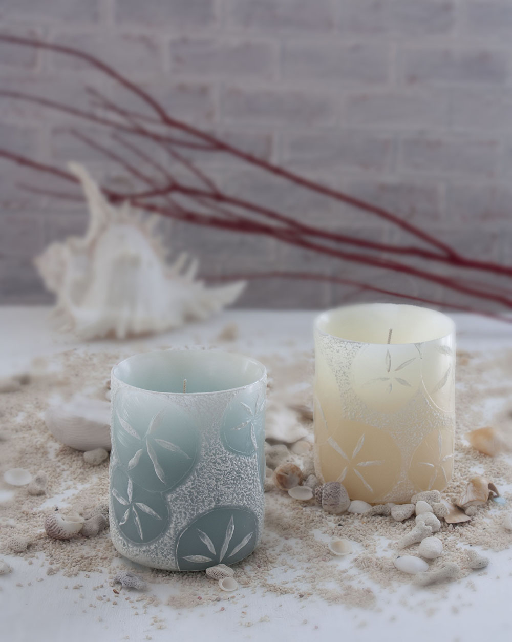 29715 - Sand Dollar Luminary in Seafoam - $20