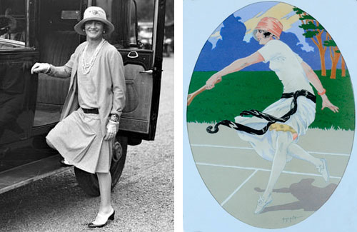 Coco Chanel and vintage tennis