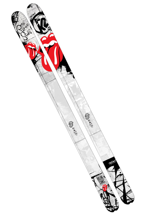 K2 + Rolling Stones skis