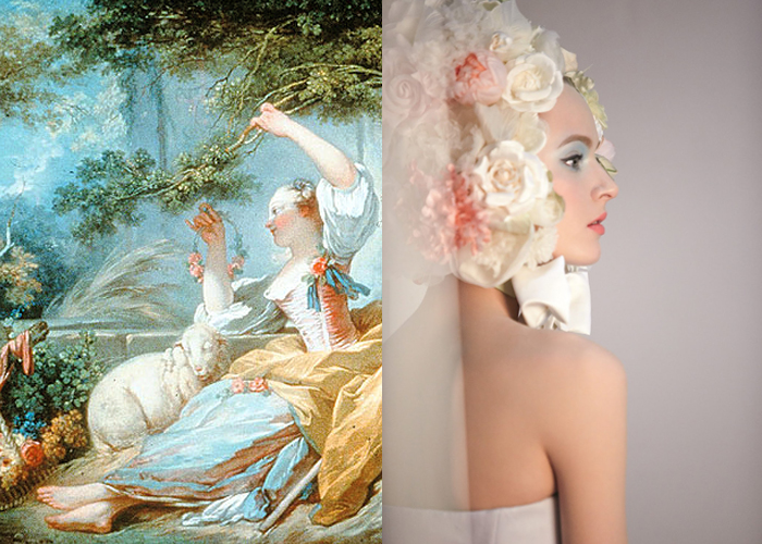 PASTORAL PASTELS: The Shepherdess by Fragonard. Dior Trianon S2014 makeup