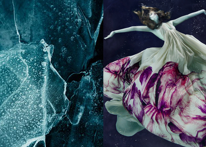 Mini Moodboard: Under Water. puritan, witch, frozen, drowning.