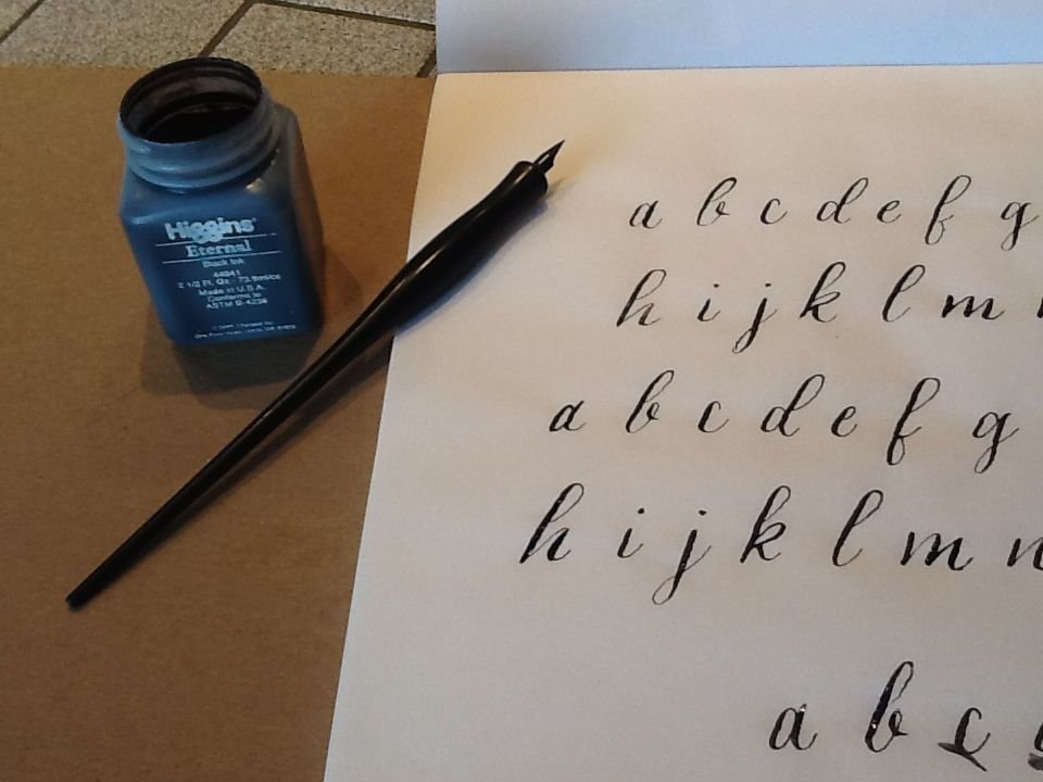 Calligraphy: lowercase alphabet