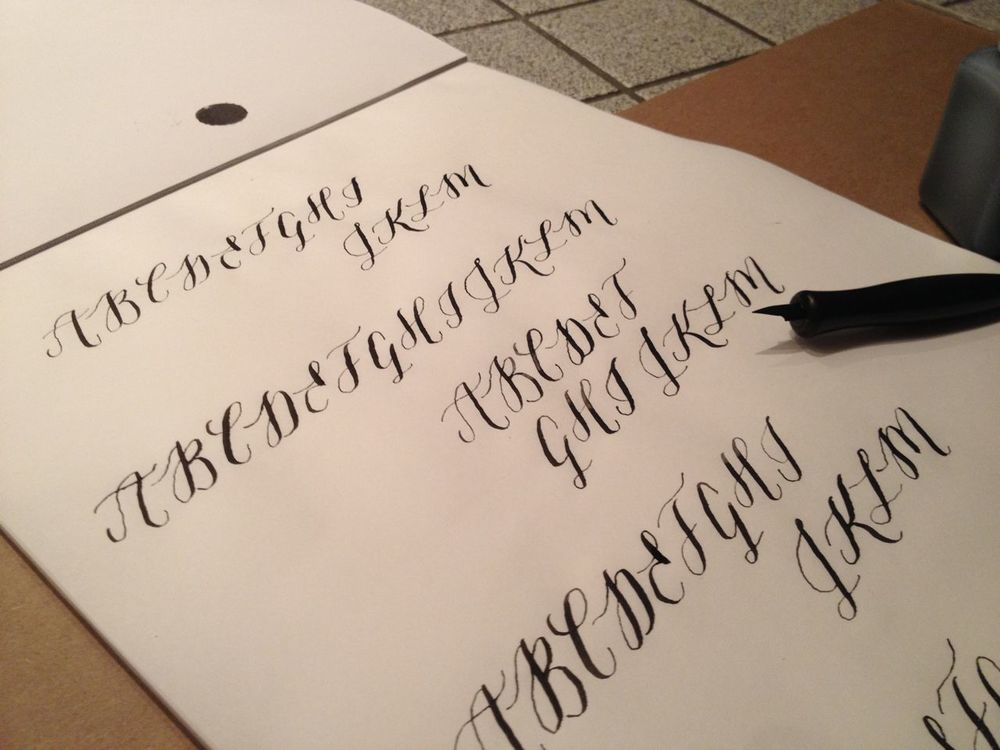 Calligraphy: uppercase alphabet