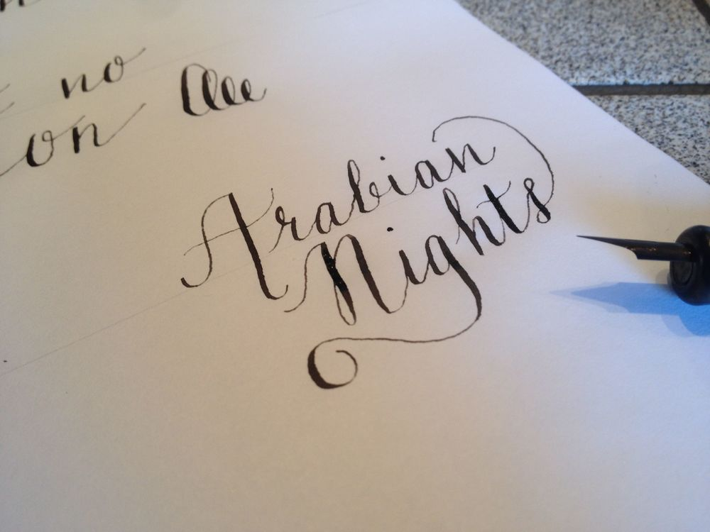 Calligraphy: combining words