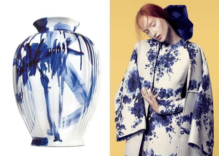 Mini Moodboard: Delft Blue. Designer Marcel Wanders & Valentino share a tradition.