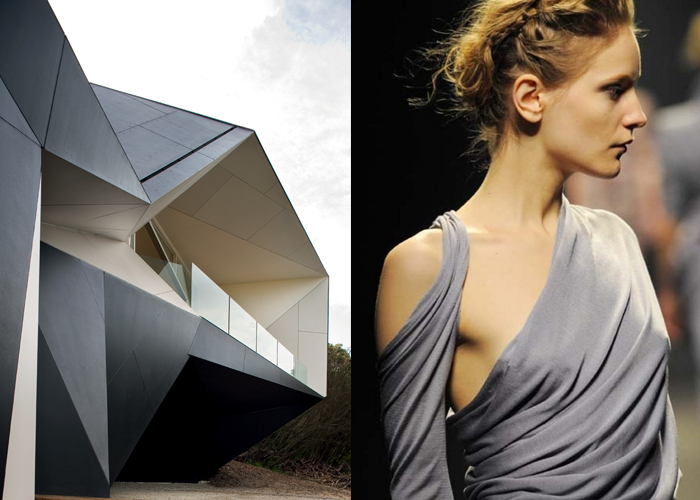 Mini Moodboard: Topology. Continuous, Möbius inspired deformations in architecture and fashion.