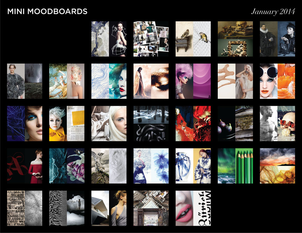 Mini Moodboards: A survey of images and ideas from January