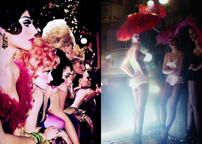 Mini Moodboard: Showgirls. From Vegas to Vogue.