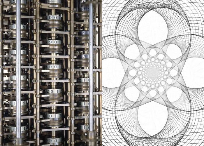 Mini Moodboard: Interpolation. From the Difference Engine to Spirographs