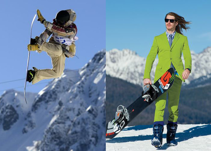 Mini Moodboard: Slope Style. Pro boarders Sage Kotsenburg wins gold and Mark Sollors rocks the suit.
