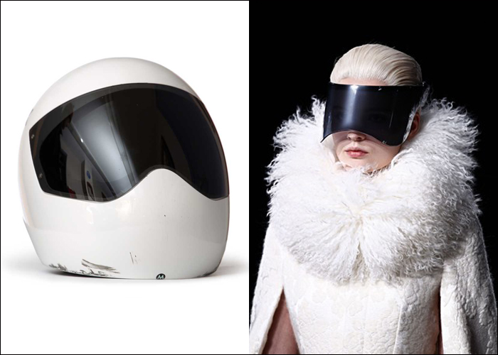 Mini Moodboard: Visionary. Personified by Olympic athletes (Skeleton helmet) and fashion designers (Alexander McQueen)