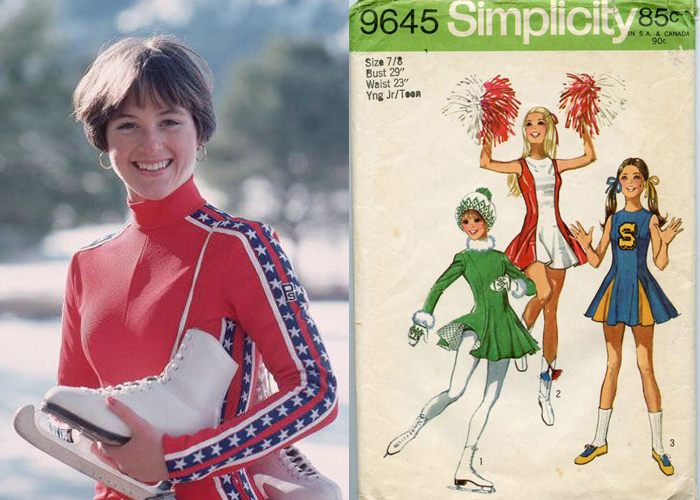 Mini Moodboard: Go Figure. A nostalgic look at gold medalist Dorothy Hamill and skating dress patterns.