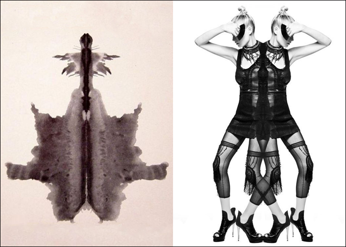 Mini Moodboard: Free Association. Rorschach inkblots inspire fashion editorial