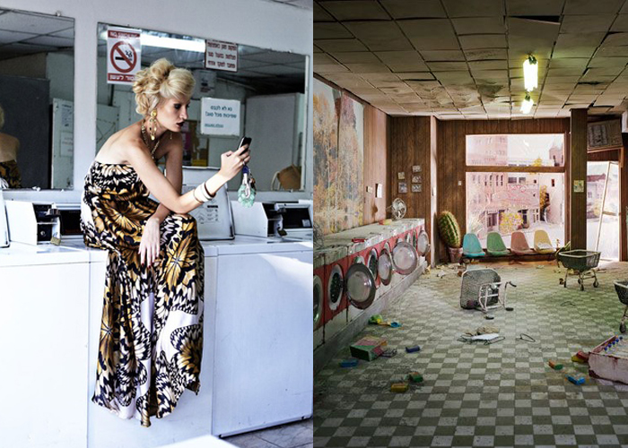 Mini Mood Board: Laundromat. Desperate Housewives by Shay Kedem and a crumbling diorama from Lori Nix